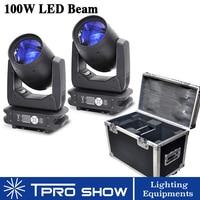 2pcs Movinghead 100W Lyre Beam LED Moving Head Light Prism Gobo Professional Dj Lights Mobile Head Led Beam Dmx Road/Flight Case