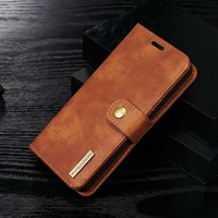 Luxury Genuine Leather Case Flip Magnetic Cover For Iphone 6 6s 7 7plus 5se 6plus 2