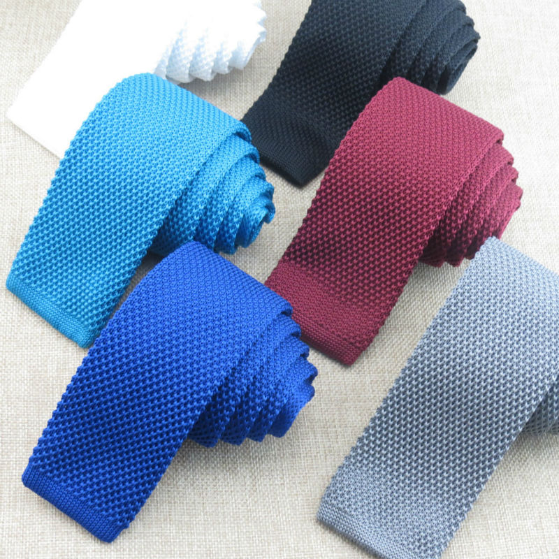 Pure color knit tie/More than 20 candy color solid-colored design/The new fashion style restoring ancient ways narrow tie