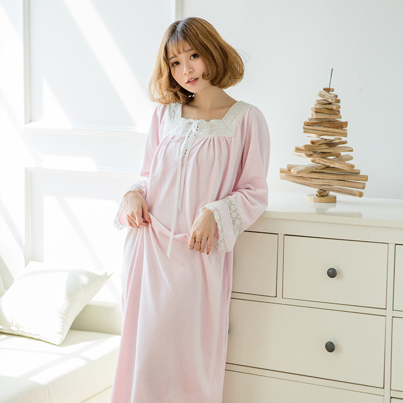 Winter Pregnant Women Thickened Pajamas Korean Double-sided Mink Cashmere Court Retro Gauze Princess Maternity Sleepwear YFQ204 cotton materinty nursing pajamas long sleeve pijamalar hamile plaid pajamas set maternity sleepwear for pregnant women 50m084
