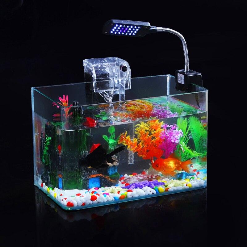 Aquatic Ecological Aquarium Fish Tank Glass Fish Tank Gold Mini