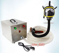 Electric Long Tube Constant Flow Airline Supplied Fresh Air Respirator System Full Face Gas Mask