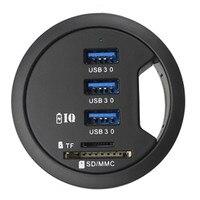 Ecosin2 USB Hubs usb 3.0 hub card reader Mount In Desk 3 Port USB 3.0 HUB Adapter with SD Card Reader usb port Nov5