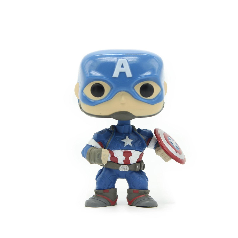 Chanycore <font><b>Funko</b></font> <font><b>pop</b></font> Bobble Head <font><b>Marvel</b></font> <font><b>Captain</b></font> <font><b>America</b></font> Avengers 67# <font><b>Civil</b></font> <font><b>War</b></font> 3 PVC Movie <font><b>Vinyl</b></font> Action Figure Gifts Toys