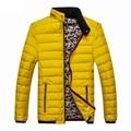 High Quality New Men Down Jackets 2016 Winter Men Warm Puffer Down Coat Fashion Brand Desinger Overocat Black Yellow Blue M-3XL