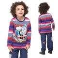 Tomas menino t shirt roupas para crianças Thomas trem dos desenhos animados Camisetas de manga longa para meninos dos desenhos animados t camisa do bebê para meninos