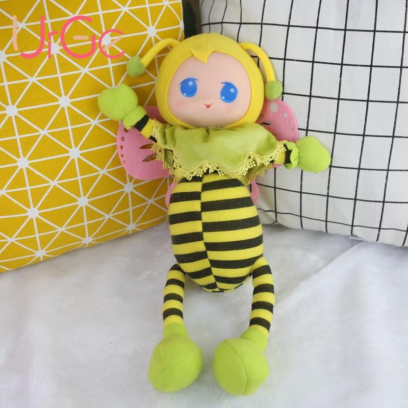kawaii peluches douces mignons animaux en peluche dessin animé abeille bébé apaiser poupées jouets pour enfants jouets pour enfants filles poupée cadeaux de Noël exhorter
