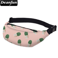Deanfun 3D Printed Cactus Waist bags Pink Fanny Hip Bum Bags  for Women Outdoors Travelling YB25