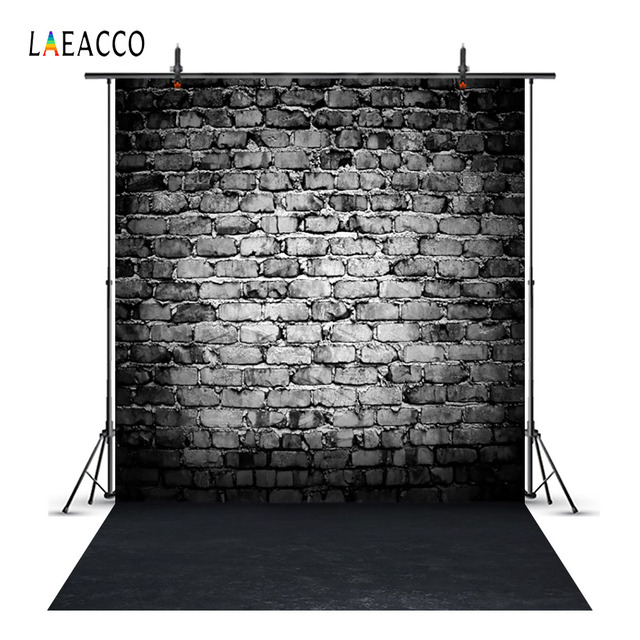 Laeacco Grunge Dark Brick Wall Scene Baby Portrait Camera Photography Backgrounds Custom Photographic Backdrops For Photo Studio