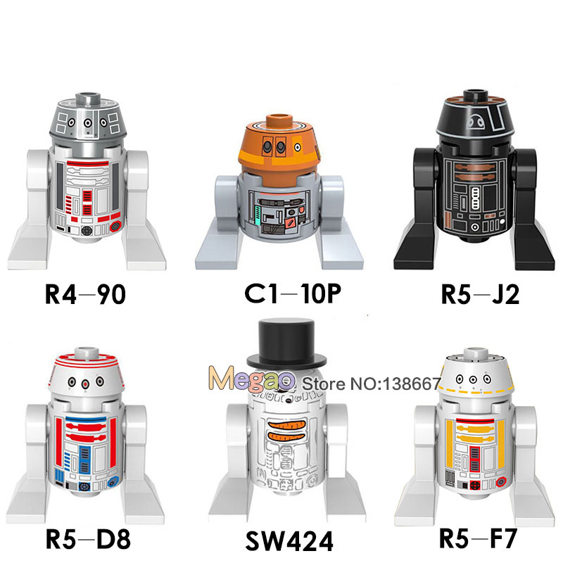 Model Building Cheap Sale Single Sale Star Wars Figure Chopper R4-90 C1-10p R5-j2 R5-d8 Sw424 R5f7 Robot Building Blocks Set Models Toys Gift Toys X0149 Promoting Health And Curing Diseases