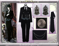 Black Butler Cosplay Sebastian Michaelis Costume Custom Made