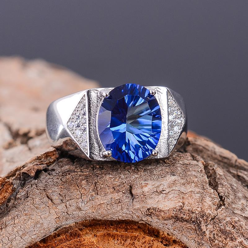 KJJEAXCMY fine jewelry 925 silver inlaid with natural tanzanite lady's ring jewelry. kjjeaxcmy fine jewelry s925 pure silver inlaid with natural tanzanite ring jewelry platinum color