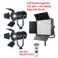 2x CN-60F светодиодная точечная лампа + 1x CN-900SA Светодиодная панель прожектор для студийного интервью Ra95 2 4G беспроводной пульт дистанционного у...