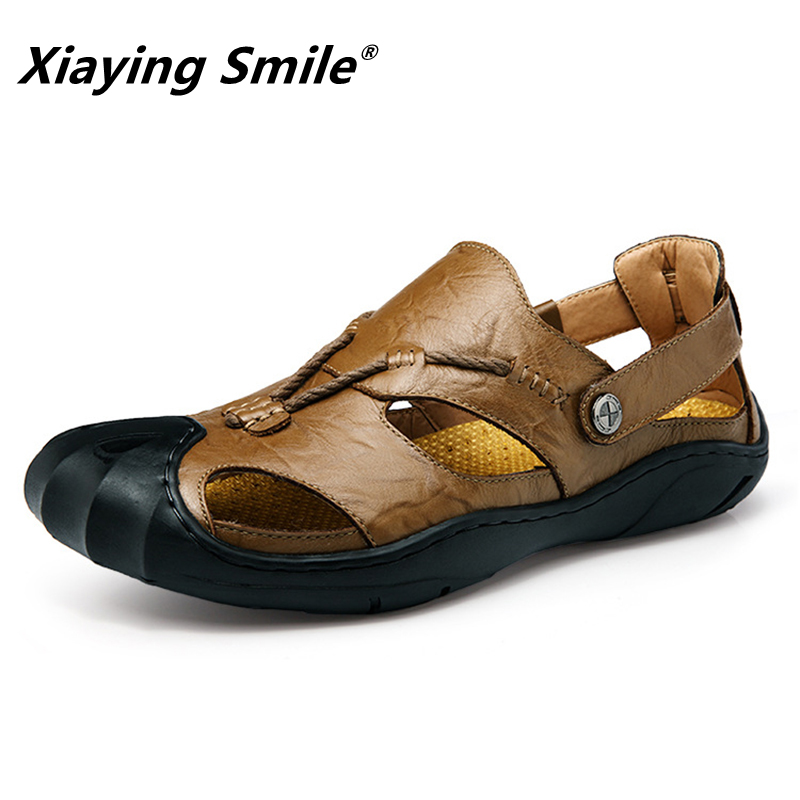Mens Sandals Genuine Leather Summer 2018 New Beach Men Casual Shoes - Men's Shoes - Photo 2