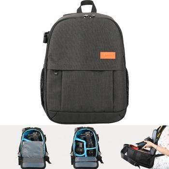 Camera Anti-theft Fashion Shoulders Bag Grey Black Backpack Waterproof with Rain Cover Travel Tripod Lens Case Men Women Bags Camera/Video Bags