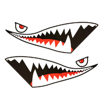 Shark Mouth Tooth Teeth Reflective Sticker Red Tongue Black Mouth Vinyl Refiting Exterior Decal Side Door