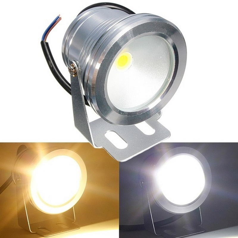10W LED Swimming Pool Light Underwater Waterproof IP68 Landscape Lamp Warm/Cold White AC/DC 12V 900LM
