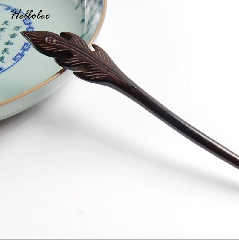 Phoenix Feather Sandalwood Handmade Luxurious Hair stick Hairpin Headwear Women jewelry Gift for Ethnic women wholesale цены онлайн