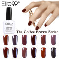 Elite99 New Arrival Brown Series Color Gel Lacquer Soak Off Primer Top Base Coat Needed 10ml DIY Manicure Set