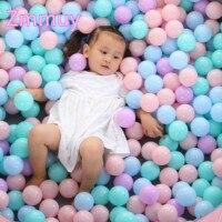 50 шт. или 100 красочные пластиковые шарики игрушки воды мягкие океанские волны шары для бассейна Детские плавание игрушки для манежа Открыты...