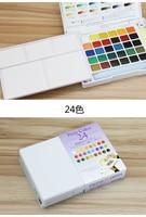 бесплатная доставка терренс вишня 30/24/18 цвет акварель набор одноцветное акварельной живописи акварель портативный комплект профессиональный