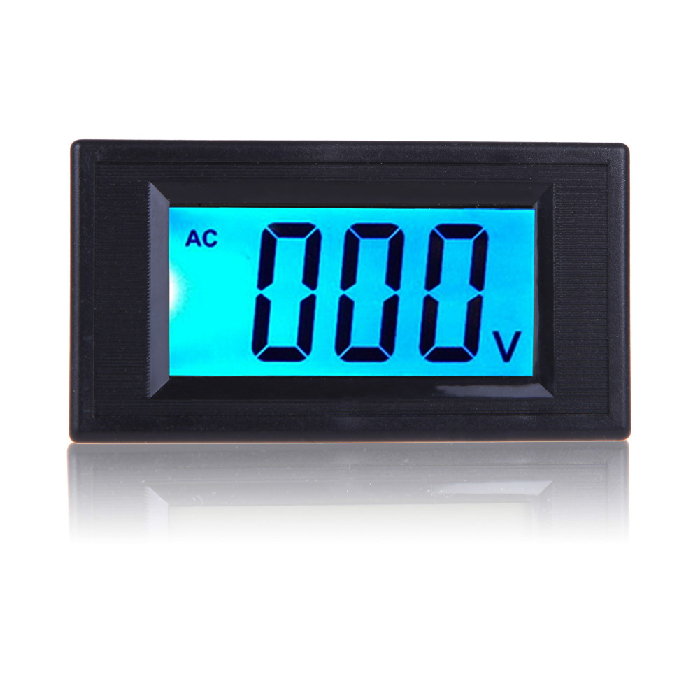 Mini LCD Panel Voltage Meters Blue Backlight AC80-500V LCD Digital Voltmeter Panel Voltage Digital LCD Equipment BS цена