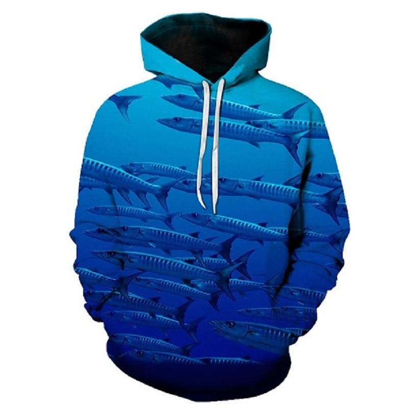Fish Printed Hoodies Sweatshirts Men Women Tracksuits 3d Pullover Autumn Winter Coat Fashion Hoody Casual Drop Ship s-6xl