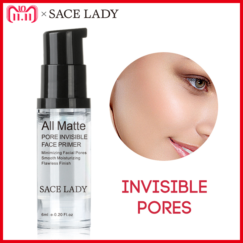 SACE LADY Face Base Primer Makeup 6ml Liquid Matte Make Up Fine Lines Oil-control Facial Cream Brighten Nude Foundation Cosmetic o two o professional make up base foundation primer makeup cream sunscreen moisturizing oil control face primer