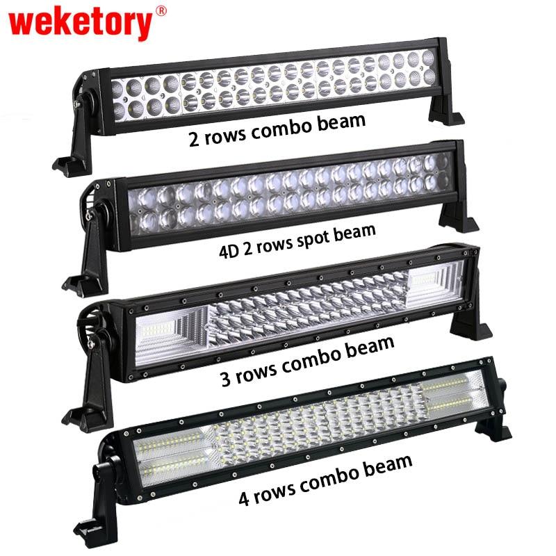Weketory 22 pouce LED Bar LED Travail Light Bar pour Voiture tracteur Bateau OffRoad Hors Route 4WD 4x4 Camion Remorque SUV ATV