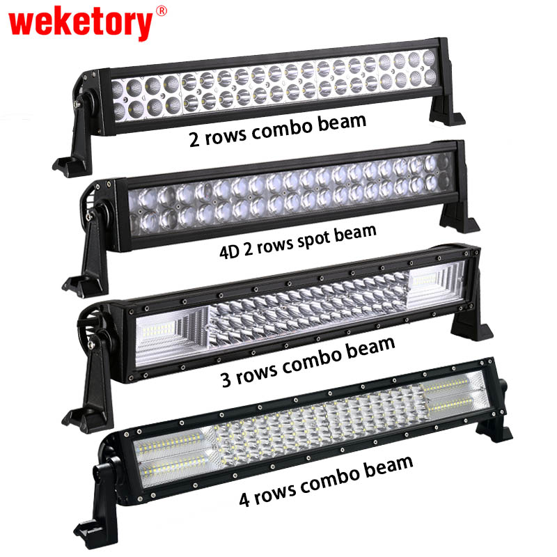 weketory 22 inch LED Bar LED Work Light Bar for Car Tractor Boat OffRoad Off Road 4WD 4x4 Truck Trailer SUV ATV