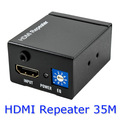 5pcs/lot New 1080p 3D HDMI extender repeater up to 35M/Signal amplifier