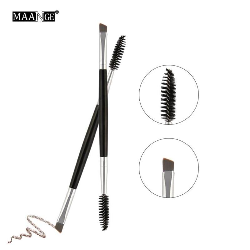 Maange 1pc Brow Makeup Brush Wood Handle Double Sided Eyebrow Flat Angled Makeup Brushes Brochas Para Maquillaje Maquiagem 43