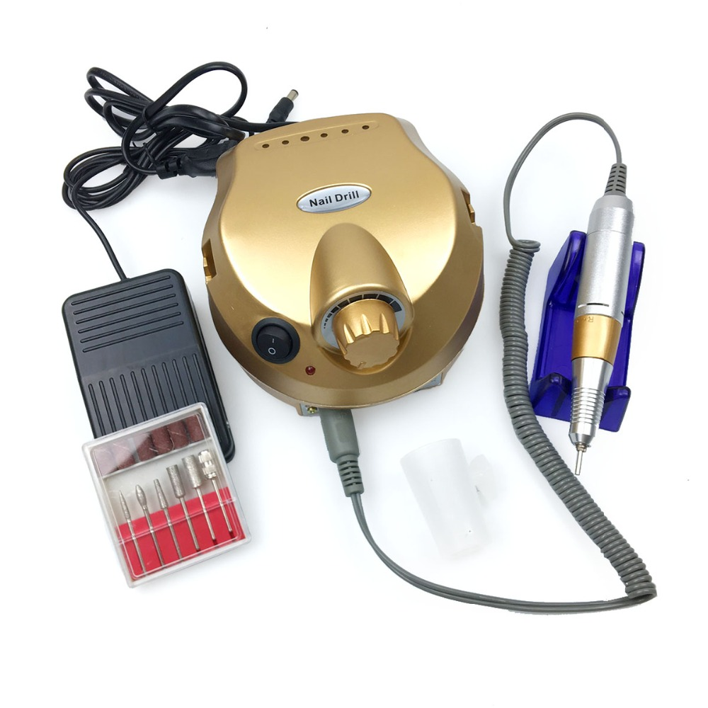 30000RPM Electric Nail Manicure Pedicure Machine Nail Milling Cutter Professional Nail Drill Bits Low Noise and Vibration EU/US
