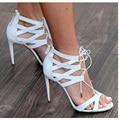 Женщины туфли на высоком каблуке сексуальный острым носом высокие каблуки ап женская обувь свадебные туфли белый черный сандалии женщин sapatos бесплатная доставка