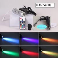 Car use MINI 12V power 7w round LED Light source engine for fiber optic car star roof light