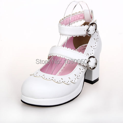 Eur:34-44 Angelic imprint 2016 Patent leather LOLITA princess sweet high heels fashion Cosplay girl's pumps white women's shoes трикотаж lolita angelic pretty