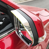 ABS Plastic For MG ZS 2018 accessories Car Styling Car rearview mirror block rain eyebrow Cover Trim