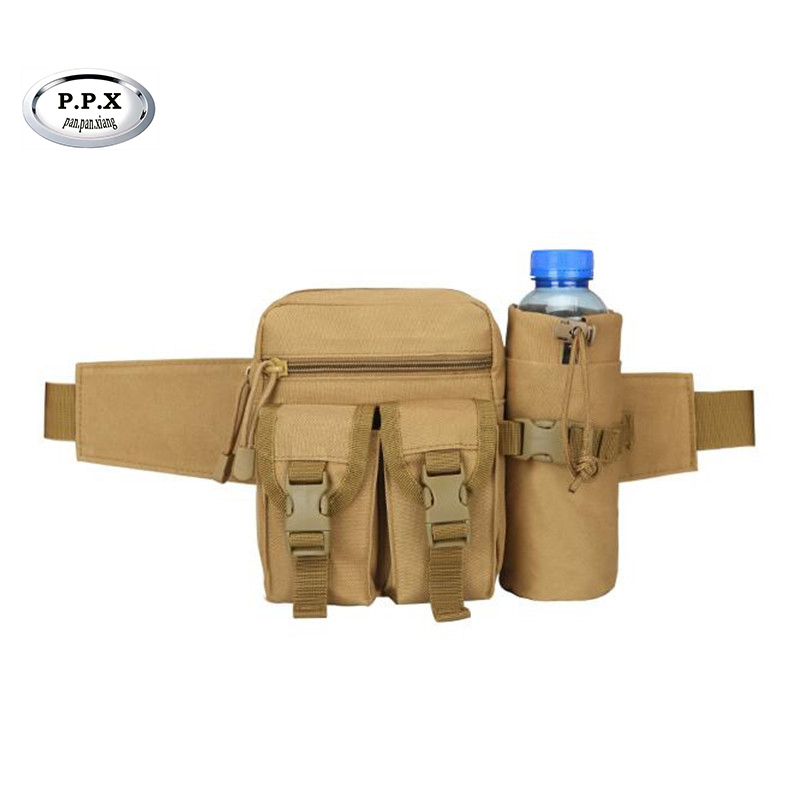 New Fanny Pack Men Travel Military Bicycle Waist Pack Nylon Waterproof Waist Belt Bags With Portable Kettle Bag For Men S285 women s nylon multifunction travel bags funny chest pack men waist pack hiqh quality waist bag unisex shoulder bag bolso cintura