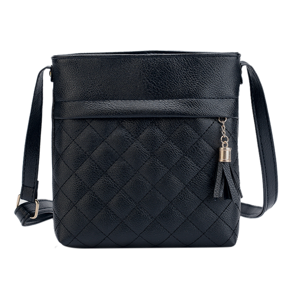 Small Tassel Bag Messenger Bags Lattice Ladies Crossbody Bag Soft PU Leather Mini Handbag Bolsa Feminina