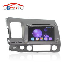 Android 6.0 car Radio for Honda Civic(left) 2006 2007 2008 2009 2010 2011 car dvd player 1024*600 2 din in dash car audio