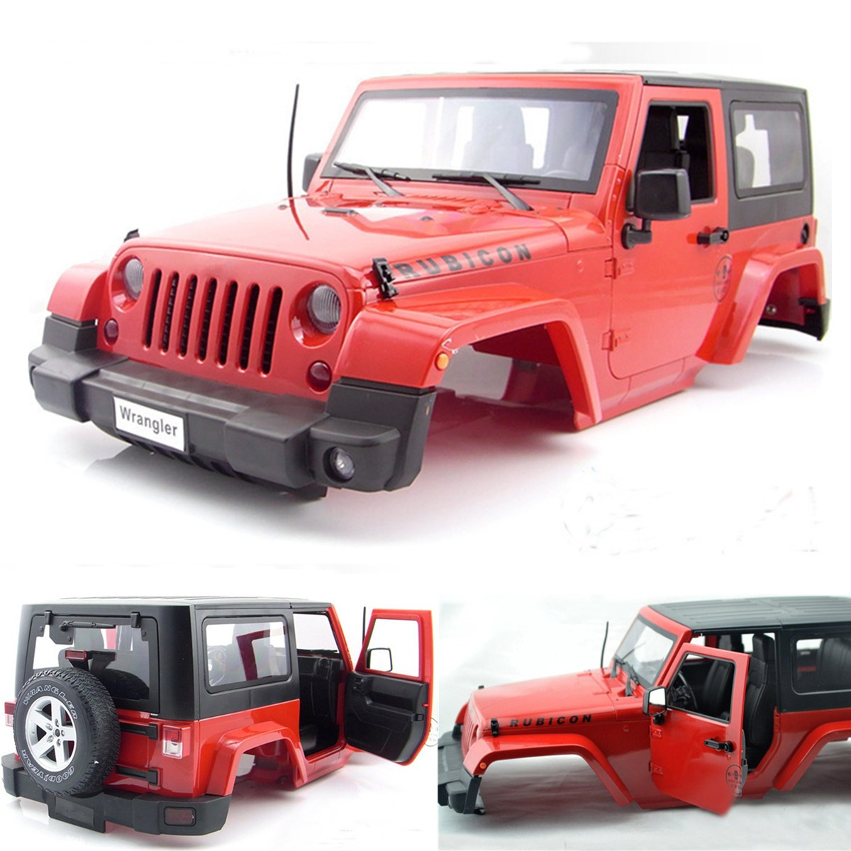 Red Hard Plastic 1:10 BODY SHELL for RC Model Climbing Car SCX10 D90 body jeep jk 1 10 red 1 10 rc crawler rc car hard top d90 body shell of jeep wrangle scx10 d90 90020 90021 90018