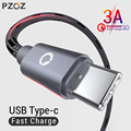 PZOZ USB Type C Cable Fast Charging usb c data Cord USB-C Charger For Samsung S9 S8 xiaomi mi 8 a2 redmi note 7 mix Type-c cable