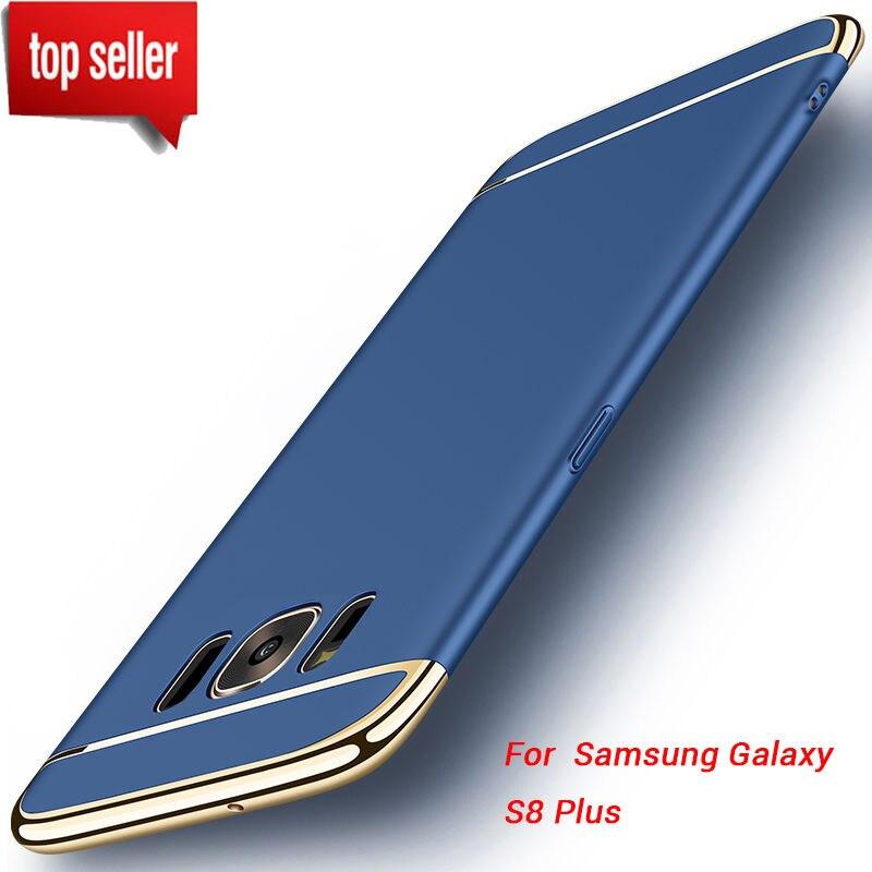 Ultra Thin Plating Metal Effect Anti-Knock Hard PC Plastic Protective Back Case Cover For Samsung S7 Edge S8 Plus J5 J7 Prime