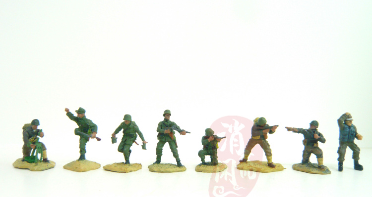 super mini 1:72 pvc figure World War II sand table soldier   color finished German forces 8pcs/set world war 1