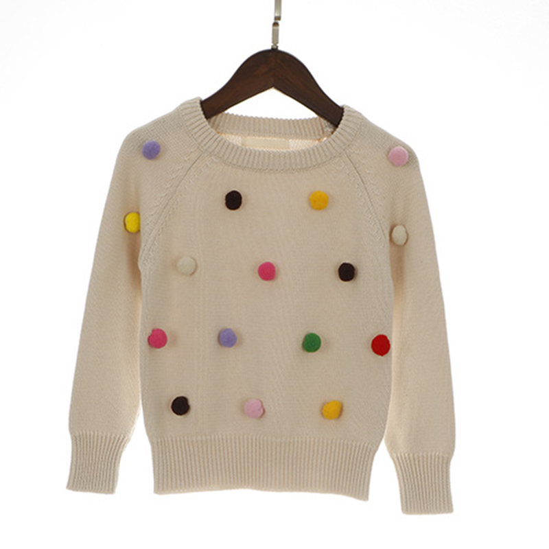 4a5bb7b51 2019 Boys Sweaters New Kids Sweater Balls Design Baby Knitted Pullover  Casual Toddler Boys Sweater Woolen