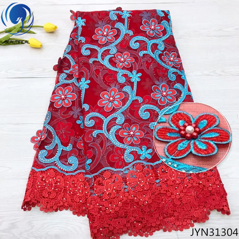 BEAUTIFICAL guipure 3d flower lace fabric 3d lace dress 2018 new styles french net lace 3d selling 5 yards/lot red fabric JYN313BEAUTIFICAL guipure 3d flower lace fabric 3d lace dress 2018 new styles french net lace 3d selling 5 yards/lot red fabric JYN313