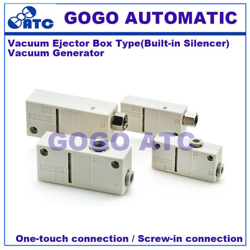 SMC type ZH Serie Vacuüm generator Ejector Box Type (Ingebouwde Demper) -88 kPa-48 kPa Vacuüm negatieve druk generator