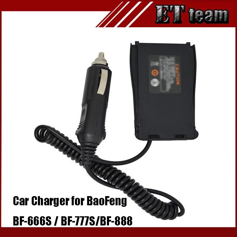 bilder für Auto Charger Battery Eliminator Adapter DC 12 V Für Zweiwegradio BF 888 S Baofeng Tragbare Walkie Talkie BF-888S 666 s 777 s