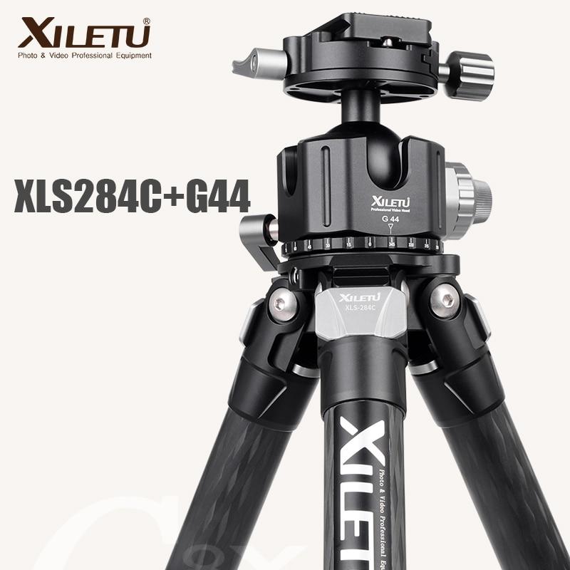 XILETU XLS 284C + G44 Professionelle Fotografie Carbon Fiber Stativ 360 Grad Panorama Kugelkopf Für Dslrs Kameras-in Stative aus Verbraucherelektronik bei  Gruppe 1
