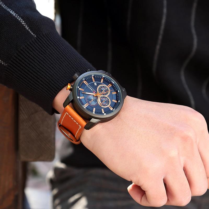 CURREN 8291 Luxury Brand Men Analog Digital Leather Sports Watches Men\`s Army Watch Man Quartz Clock Relogio Masculino drop shipping wholesale cheap (15)